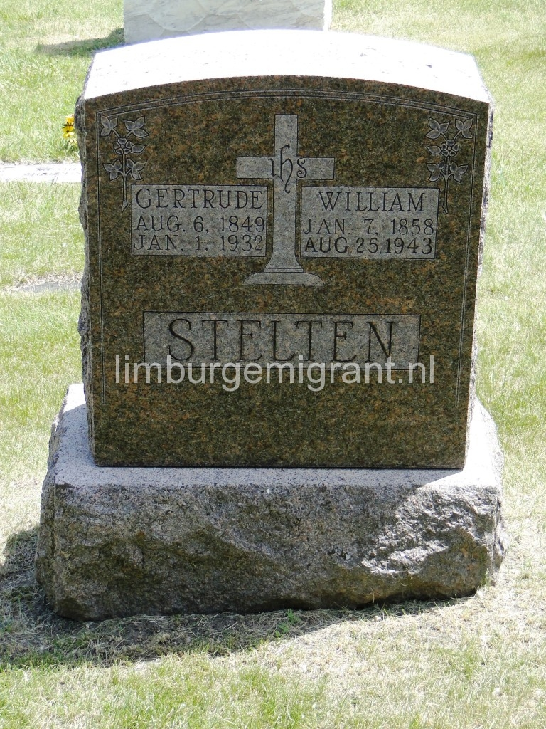 William Stelten 1858-1943, husband of Gertrude