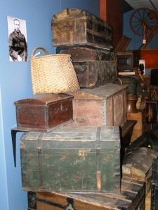 Waconia Museum. Trunks of the settlers
