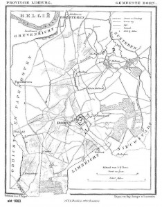 Map of Born, abt. 1860